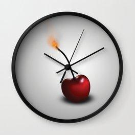 Cherry Bomb. Wall Clock