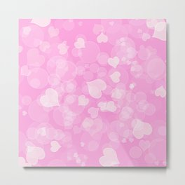 Abstract pink valentines love texture. Metal Print