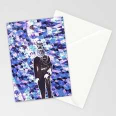 General Gears on blue Stationery Cards