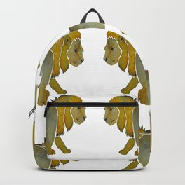 Lion Courage Watercolor Backpack