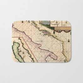 Map Of The Adriatic Sea 1700 Bath Mat