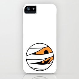 Pumpkin Mummy Face iPhone Case