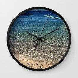 Tropical waters Wall Clock