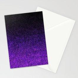Purple & Black Glitter Gradient Stationery Cards