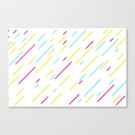 Simple Colorful Abstract Lines Pattern Canvas Print