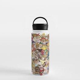 Cartoon Collage Water Bottle
