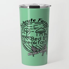 Schrute Farms bed and breakfast and self defense Travel Mug