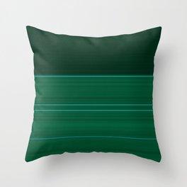 Dark Emerald Green with Light Blue Stripes Throw Pillow