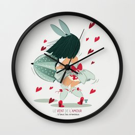 LE VENT DE L'AMOUR Wall Clock