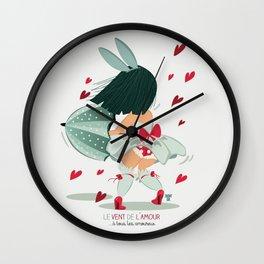 LE VENT DE L'AMOUR Wall Clock