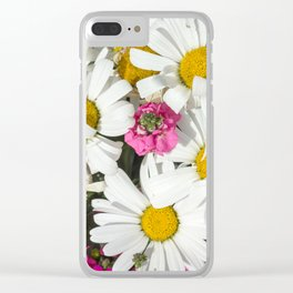 Daises Clear iPhone Case