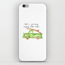 Green Truck iPhone Skin
