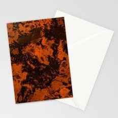 Galaxy in Orange Stationery Cards