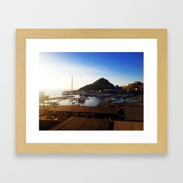 The Marina View - Cabo San Lucas Framed Art Print
