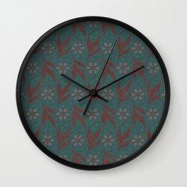 Floral Digital Fabric Wall Clock