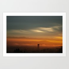 Sunrise: Orange Flood Art Print