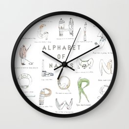 Alphabet of names Wall Clock