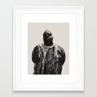 notorious Framed Art Prints featuring Notorious by Ricca Design Co.