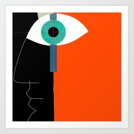 PRETTY ABSTRACT FACE Art Print