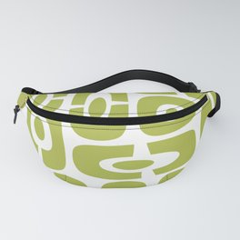 Mid Century Modern Cosmic Abstract 232 Olive Green Fanny Pack