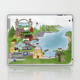 Louisbourg Illustrated in Color Laptop & iPad Skin