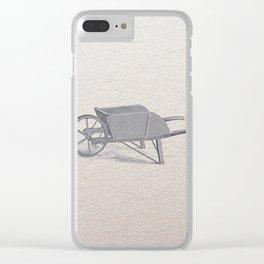 Wheel barrow Clear iPhone Case