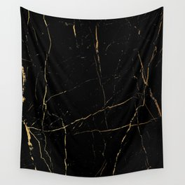 Black and gold marble Wall Tapestry