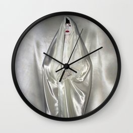 "say no to patriarchy / ""the virgin"" Wall Clock"