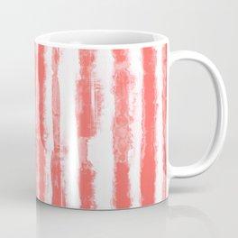 Shibori Stripe Coral Coffee Mug