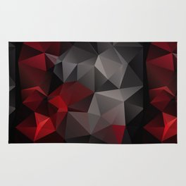 Polygon red black triangles . Rug
