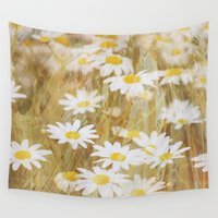 daisy Wall Tapestries featuring Daisy by Rainy