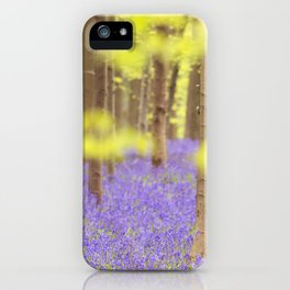 Bluebell forest in full bloom iPhone Case
