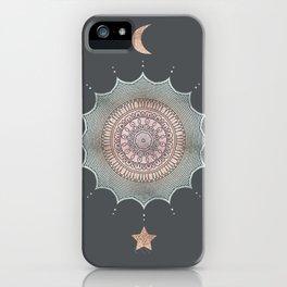 Rose Gold Magic Mandala Moon And Star iPhone Case
