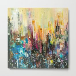 Evening city Metal Print