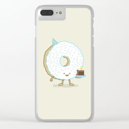The Birthday Party Donut Clear iPhone Case
