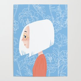 White Haired Girl YUKI Poster