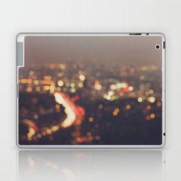 Los Angeles cityscape at night. Abstract Mulholland Laptop & iPad Skin