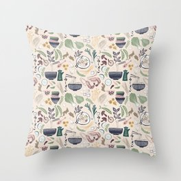 Ramen Bowl Throw Pillow