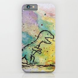 Dinosaur - 4, May 2014 - Tonight's Watercolor iPhone Case