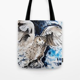 """Owl - Animal - """"I own the night..."""" by LiliFlore Tote Bag"""