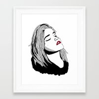 sky ferreira Framed Art Prints featuring Sky Ferreira by BUGS