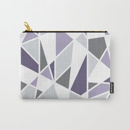 Geometric Pattern in purple and gray Carry-All Pouch
