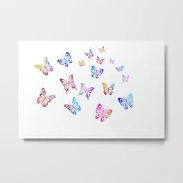 Colored Butterflies Metal Print