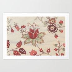 Vitage Rose Art Print