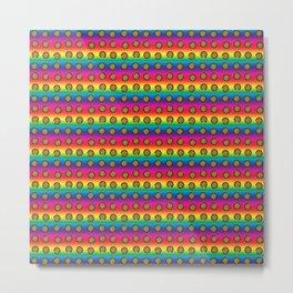Psychedelic Rainbow Cookie Pattern Metal Print