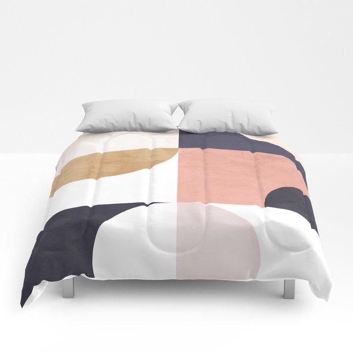 Geometric Moontime 1 Comforters