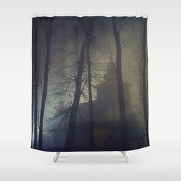 The Mysterious Night Shower Curtain