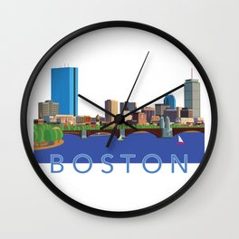 Back Bay Boston Skyline Wall Clock