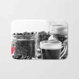 Fine Coffee and coffeebeans for homedecors Bath Mat