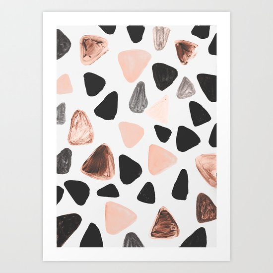 Rounded Triangles Art Print